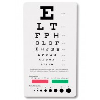 Pocket Snellen Eye Chart #3909