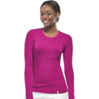 Code Happy Long Sleeve Underscrub Knit Tee #46608A