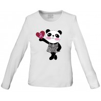 "WorkWear ""Little Miss Panda"" Long Sleeve Knit Tee #4709 - MIPA"