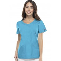 Cherokee Workwear Mock Wrap Top #4747