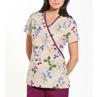 Scrub HQ Mock Wrap Top #4826