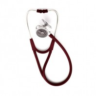 Welch Allyn® Tycos® Harvey™ DLX Triple-head Stethoscope #5079-322, Burgundy