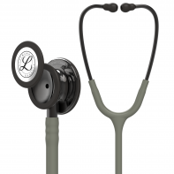 3M™ Littmann® Classic III™ Monitoring Stethoscope, Smoke-Finish, Dark Olive Green Tube, 27 inch, 5812