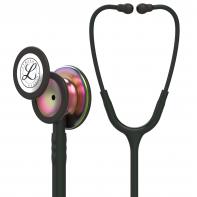 3M™ Littmann® Classic III™ Stethoscope, Rainbow-Finish Chestpiece, Black Tube, 27 inch, 5870