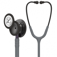 3M™ Littmann® Classic III™ Monitoring Stethoscope, Smoke Chestpiece, Gray Tube, Violet Gray Stem and Smoke Headset, 27 inch, #5873
