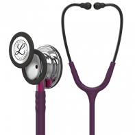 3M™ Littmann® Classic III™ Monitoring Stethoscope, Mirror Finish Chestpiece, Plum Tube, Pink Stem and Smoke Headset, 27 inch, #5960