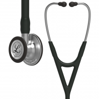 3M™ Littmann® Cardiology IV™ Diagnostic Stethoscope, Standard-Finish Chestpiece, Black Tube, 27 inch, 6152