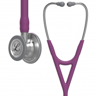 3M™ Littmann® Cardiology IV™ Diagnostic Stethoscope, Standard-Finish Chestpiece, Plum Tube, 27 inch, 6156