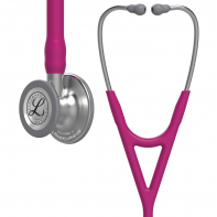 3M™ Littmann® Cardiology IV™ Diagnostic Stethoscope, Standard-Finish Chestpiece, Raspberry Tube, 27 inch, 6158
