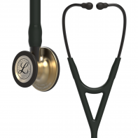3M™ Littmann® Cardiology IV™ Diagnostic Stethoscope, Brass-Finish Chestpiece, Black Tube, Smoke Stem and Headset, 27 inch, 6164