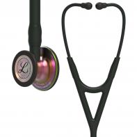 3M™ Littmann® Cardiology IV™ Diagnostic Stethoscope, Rainbow-Finish Chestpiece, Black Tube, Stem and Headset, 27 inch, 6165