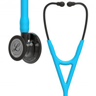 3M™ Littmann® Cardiology IV™ Diagnostic Stethoscope,  Smoke-Finish Chestpiece, Turquoise Tube, Smoke Stem and Headset, 27 inch, 6171