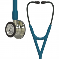 3M™ Littmann® Cardiology IV™ Diagnostic Stethoscope, Champagne-Finish Chestpiece, Caribbean Blue Tube, 27 Inch, 6190