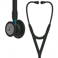 3M™ Littmann® Cardiology IV™ Diagnostic Stethoscope, Black-Finish Chestpiece, Black Tube, Blue Stem and Black Headset, 27 inch, #6201