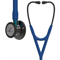 3M™ Littmann® Cardiology IV™ Diagnostic Stethoscope, High Polish Smoke-Finish Chestpiece, Navy Tube, Blue Stem and Black Headset, 27 inch, #6202L