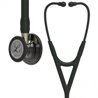 3M™ Littmann® Cardiology IV™ Diagnostic Stethoscope, High Polish Smoke-Finish Chestpiece, Black Tube, Champagne Stem and Black Headset, 27 inch, #6204