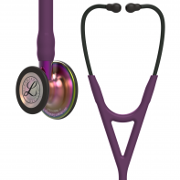 3M™ Littmann® Cardiology IV™ Diagnostic Stethoscope, Rainbow-Finish Chestpiece, Plum Tube, Violet Stem and Black Headset, 27 inch, #6205L