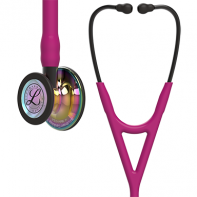 3M™ Littmann® Cardiology IV™ Diagnostic Stethoscope, High Polish Rainbow Chestpiece, Raspberry Tube, Smoke Stem and Smoke Headset, 27 inch, #6241