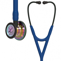 3M™ Littmann® Cardiology IV™ Diagnostic Stethoscope, High Polish Rainbow Chestpiece, Navy Tube, Black Stem and Black Headset, 27 inch, #6242
