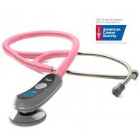 Adscope 658 Electronic Stethoscope-Metallic Breast Cancer Pink