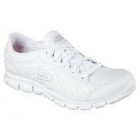 SKECHERS Work Relaxed Fit®: Eldred - Dewey SR shoe #76564-White