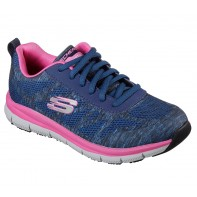 Skechers WORK Footwear - Comfort Flex SR HC PRO  #77217-Navy/Pink