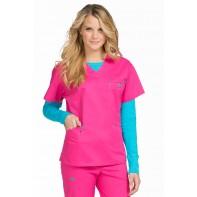 MedCouture Women's Classic Signature V-Neck Solid Scrub Top #8403