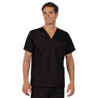 MedCouture E-Z Flex Men's 3-Pocket V-Neck Top #8406