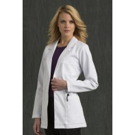 "Med Couture Women's Back Tab Pleat 30"" Lab Coat #8660"