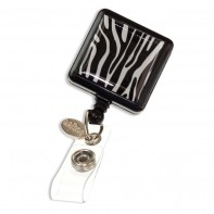 ID Avenue Badge Reels / Retractable ID Holder  #BEG-0001- Zebra