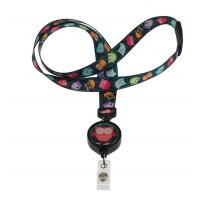 ID Avenue Ribbon Lanyards with Badge Reel-BEG-0002-OZO