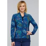 Cherokee Zip Front Knit Panel Jacket #CK308