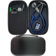 Pod Technical Cardiopod II Hard Stethoscope Case - Carbon Finish