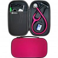Pod Technical Cardiopod II Hard Stethoscope Case - Raspberry