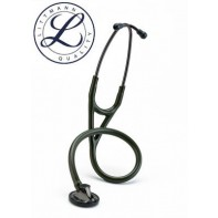 3M™ Littmann® Master Cardiology™ Stethoscope, Smoke-Finish Chestpiece and Eartubes, Dark-Olive-Green Tube, 27 Inch, 2182
