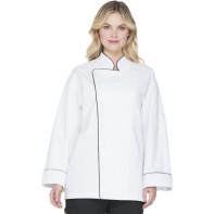 Dickies Chef Unisex Executive Chef Coat with Piping #DC42B