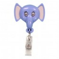 PediaPals Retractable ID Tag Holders-Elephant #100088