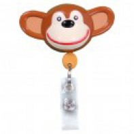 PediaPals Retractable ID Tag Holders-Chimp #100089