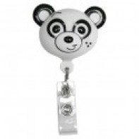 PediaPals Retractable ID Tag Holders-Panda #1000142