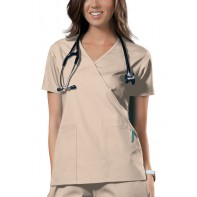 Cherokee Workwear Mock Wrap Top #4741