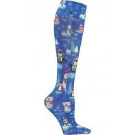 Graduated Support Socks / Knee High Hosiery 12 mmHg Compression  - FashionSupport-SIGO-Snow It Goes