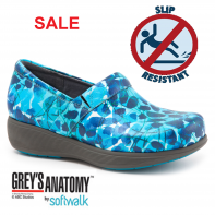 Grey's Anatomy Meredith Sport Softwalk Nursing Shoe #G1700-901 Blue Abstract Floral