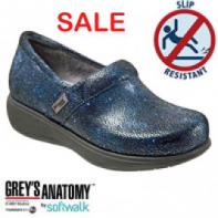 Grey's Anatomy Meredith Softwalk Nursing Shoe #G1400-452 Blue-Multi