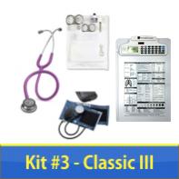 Nurse Kit #3 with Littmann Classic III  Stethoscope, BP, Clipboard & Instruments