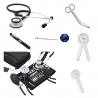 "Trine University Kit: ADC Adscope®-Lite, ADC Pro Combo ll, Metalite II™ Reusable Penlight, Taylor Percussion Hammer, Protractor Goniometer - 12 Inch #64, Protractor Goniometer - 6"" #62, Lister Bandage Scissors - 5.5 Inch #1700, Tape Measure #1052"