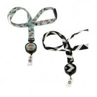 ID Avenue Ribbon Lanyards with Badge Reel  #BEG-0002