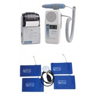 LifeDop® 250 ABI Reimbursable Vascular Doppler w/8Mhz Probe, Printer, 4 Cuffs, Aneroid, L250AC