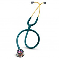 3M™ Littmann® Classic II Pediatric Stethoscope, Rainbow-finish Chestpiece, Caribbean Blue Tube, 28 inch, 2153