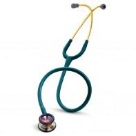 3M™ Littmann® Classic II Pediatric Stethoscope, Rainbow-finish Chestpiece, Caribbean Blue Tube, 28 inch, 2153