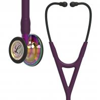 3M™ Littmann® Cardiology IV™ Diagnostic Stethoscope, High Polish Rainbow Chestpiece, Plum Tube, Violet Stem and Black Headset, 27 inch, #6239